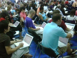 Our faculty that are in attendance / Engrossed in technology
